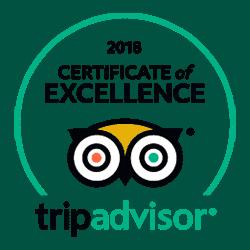 Certificado de TripAdvisor de 2018