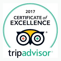 Certificado TripAdvisor de 2017
